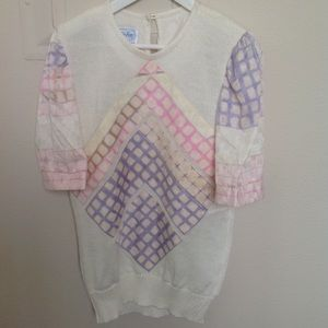 Vintage pink and purple top