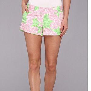Lilly Pulitzer Pants - Lilly Pulitzer Pink & Green Printed Walsh Shorts