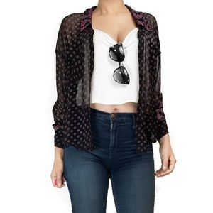 Free People Tops - Free people sheer floral bring button down