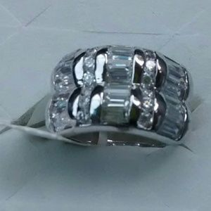 Jewelry - NWT  /Sterling White Topaz Ring
