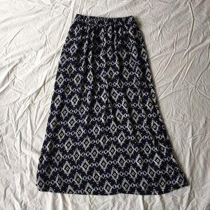 Moa Moa Dresses & Skirts - .Moa Moa. Navy and white maxi skirt