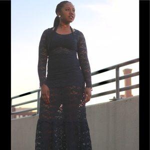 Nightcap Dresses & Skirts - NIGHTCAP Blue Carisa Rene Victorian Lace Gown S