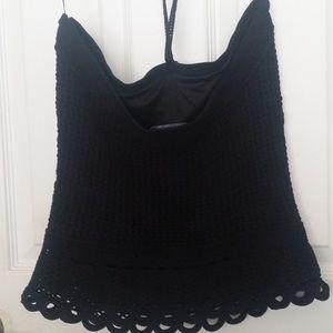 Etcetera Tops - NWOT Etcetera crochet tied top black size Medium