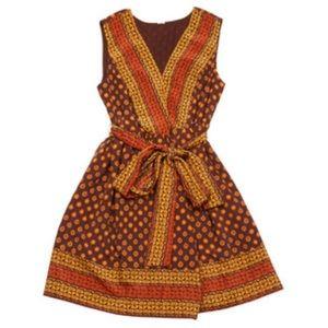 Anna Sui Dresses & Skirts - Anna Sui Target Bohemian Print Silk Wrap Dress XL
