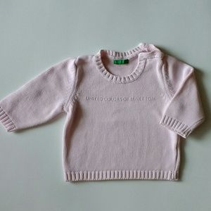 United Colors Of Benetton Other - United Colors of Benetton baby girl sweater 9 m.