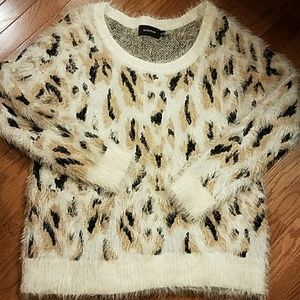 Fuzzy Animal Print Minkpink Sweater