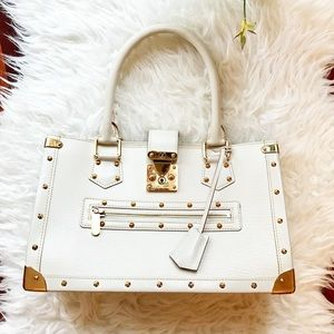 Louis Vuitton Suhali gold trim tote $4800