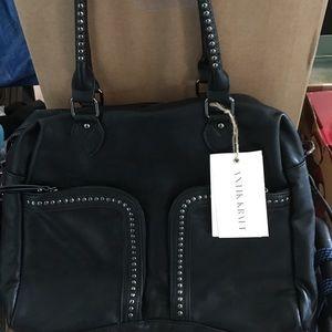 Antik Kraft Handbags - Black ANTIK KRAFT Studded Tote/Crossbody Purse