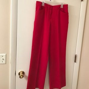 Rare red women's tuxedo pants worthington 4p