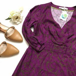 Boden Dresses & Skirts - BODEN Purple Faux Wrap Floral Dress