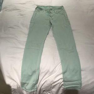 Women's Mint Green Hudson Jeans Size 28