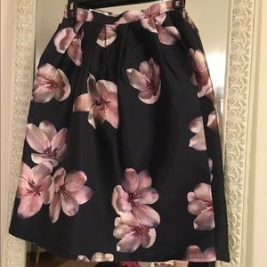 Chicwish floral midi skirt.