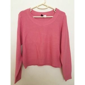 Pink H&M sweater.