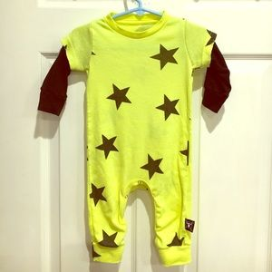 nununu Other - Nununu Size 6-12mo Neon Yellow Star Romper