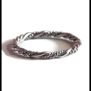 nejd Jewelry - 925 Sterling Silver Braided Ring Size 2-13