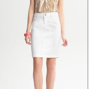 White banana republic skirt
