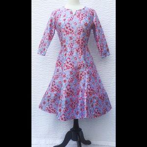 New Eshakti Floral Fit & Flare Dress L 14