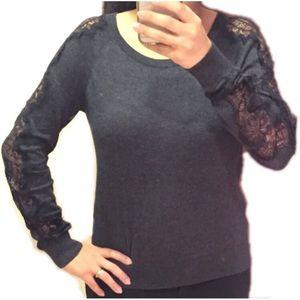 LOFT Sweaters - 🆕Loft Lacy sleeve grey sweater
