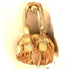 GUSTTO Handbags - GUSTTO Gold Hobo Bag