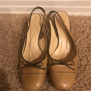 kate spade Shoes - Kate Spade Heels Slingback Tan Women's Shoes 7.5