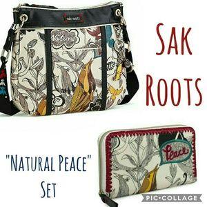The Sak Handbags - Sakroots Peace Dove matching set