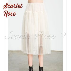Scarlet Rose Boutique Dresses & Skirts - 🌹'Vanilla' Colored Tulle Midi Skirts🌹