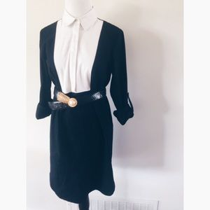 Ann Taylor Dresses & Skirts - 24hr❗️Ann Taylor Button B&W Collar Shift Dress 4