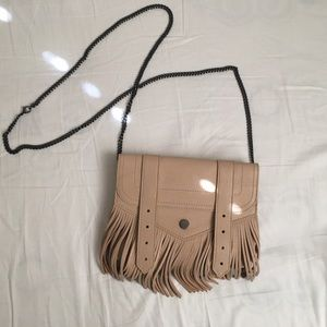 Proenza Schouler PS1 fringe leather wallet bag