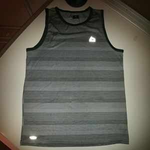 RBX Other - Men's Med. RBX performance gray striped tank