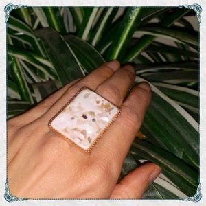 ✨Inlaid Abalone Shell & Sparkles Ring in White