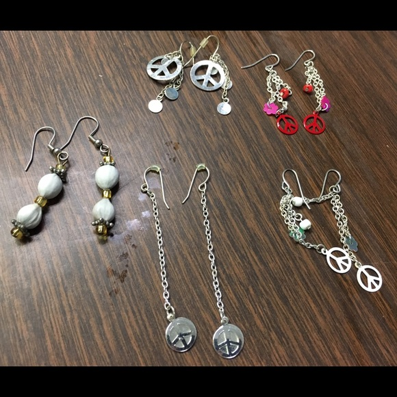 Download 52% off Jewelry - Bundle of cute peace sign earrings and ...