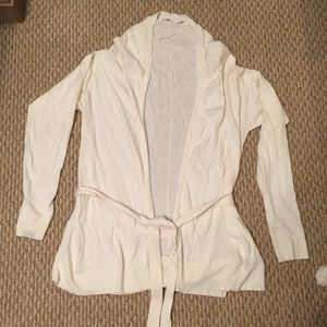UNIQLO Cashmere-Blend Creme Cardigan Size Large