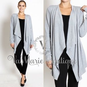 SALEHEATHER GREY  CARDIGAN