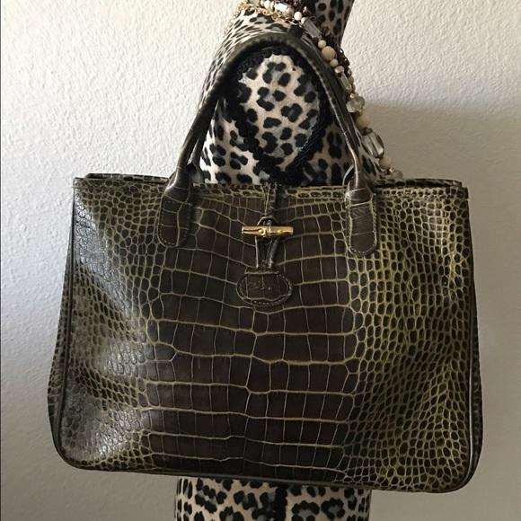 Longchamp Handbags - ❤️Longchamp Roseau-Croc Tote❤️ 4ee1cb6e76547