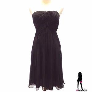 Muse Dresses & Skirts - Strapless Black Chiffon Cocktail Dress 0