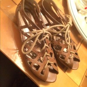 Size 6 caged sandals