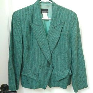 Vintage 90s Blazer Shoulder Pads Big Lapel Tweed