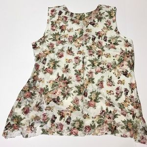 Shannon Ford New York Tops - Sleeveless Pretty & Dainty Floral Lace Top [TO-6]