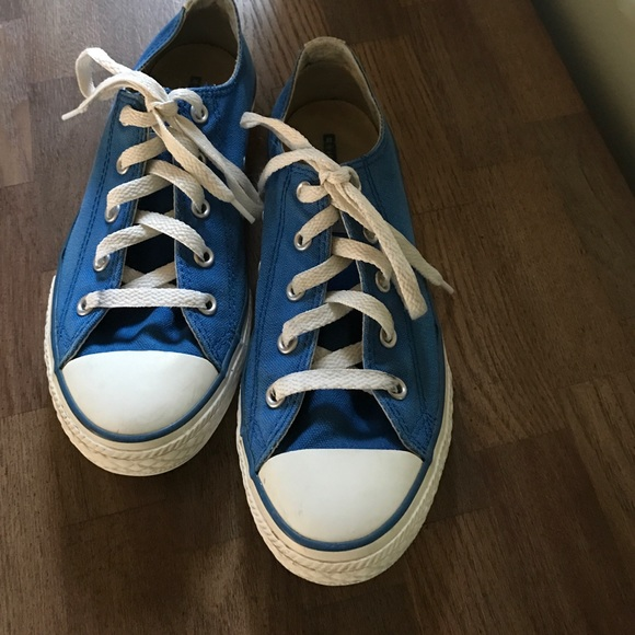 1ed7dd967138 Converse Other - Blue converse lace up all star sneakers size 4