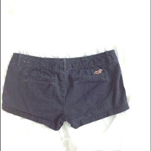 Hollister Pants - Hollister shorts khakis navy blue  juniors sz 1