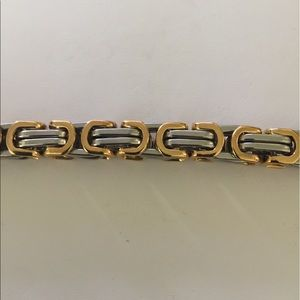 Accessories - Unisex Stainless Steel Borobudur Two Tone Bracelet