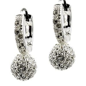 Charter Club Jewelry - Charter Club Silver Pave Drop Earring