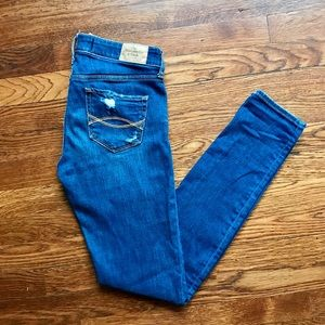 Distressed Abercrombie & Fitch Denim