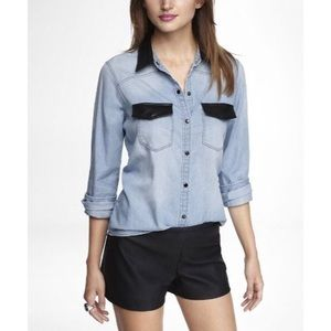 Express Chambray Button Down