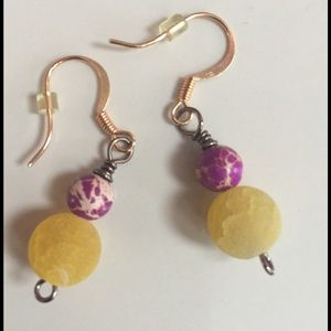 Jewelry - 🌟HP🌟 Earrings - beaded, purple, white, yellow