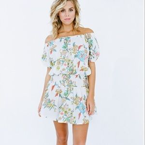 Plum Pretty Sugar Dresses & Skirts - Plum Pretty Sugar off the shoulder mini dress