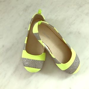 Old Navy Other - Neon & glitter ballet flats 😻