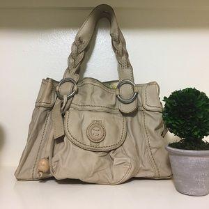 Fossil light tan genuine leather purse
