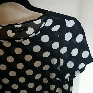 New Look Tops - ASOS Polka Dot Tunic