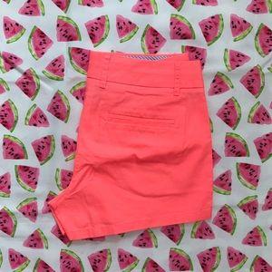 "J.Crew Factory Pants - Neon Pink 3"" J.Crew Chino Short"